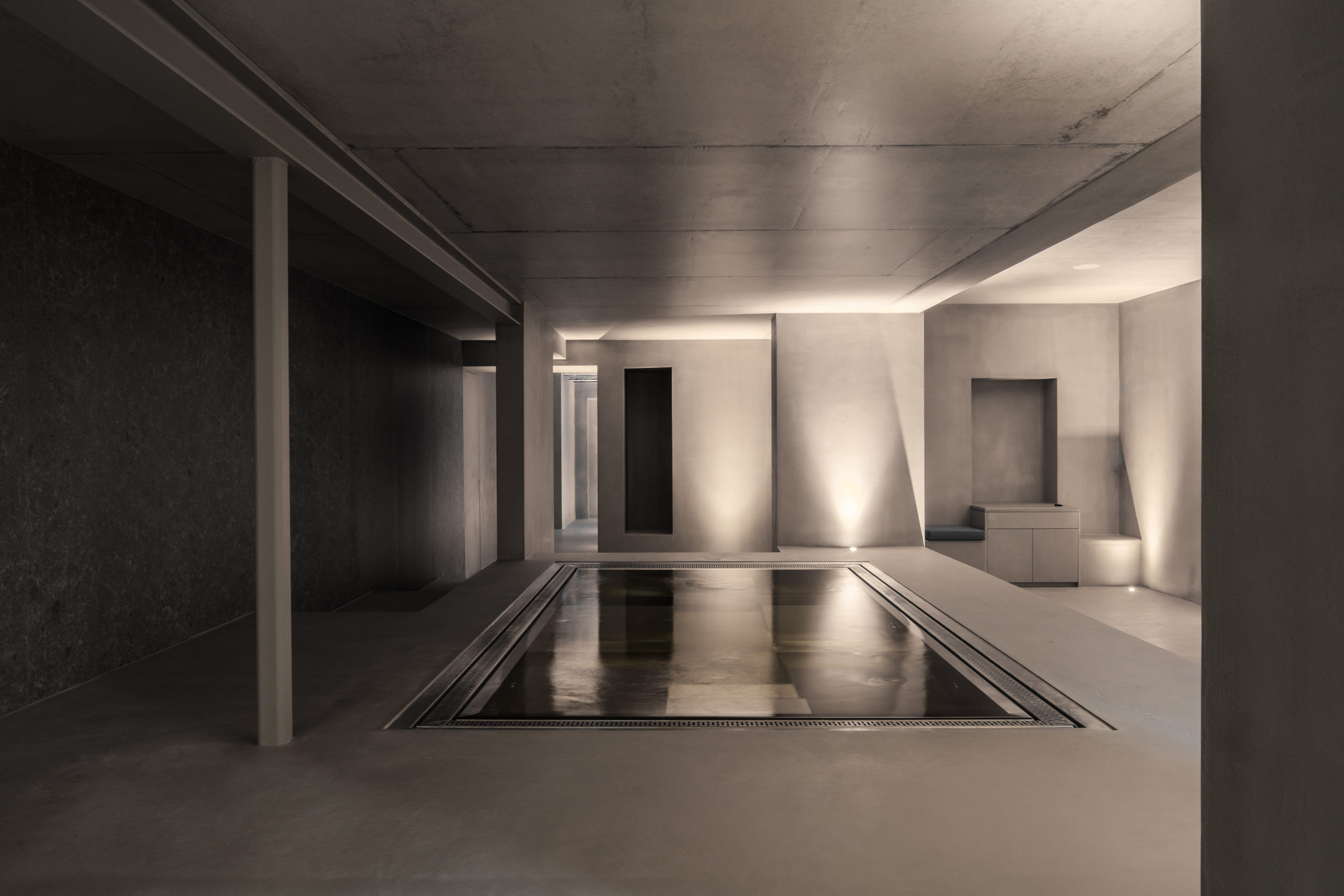 Minimal feel for the spa