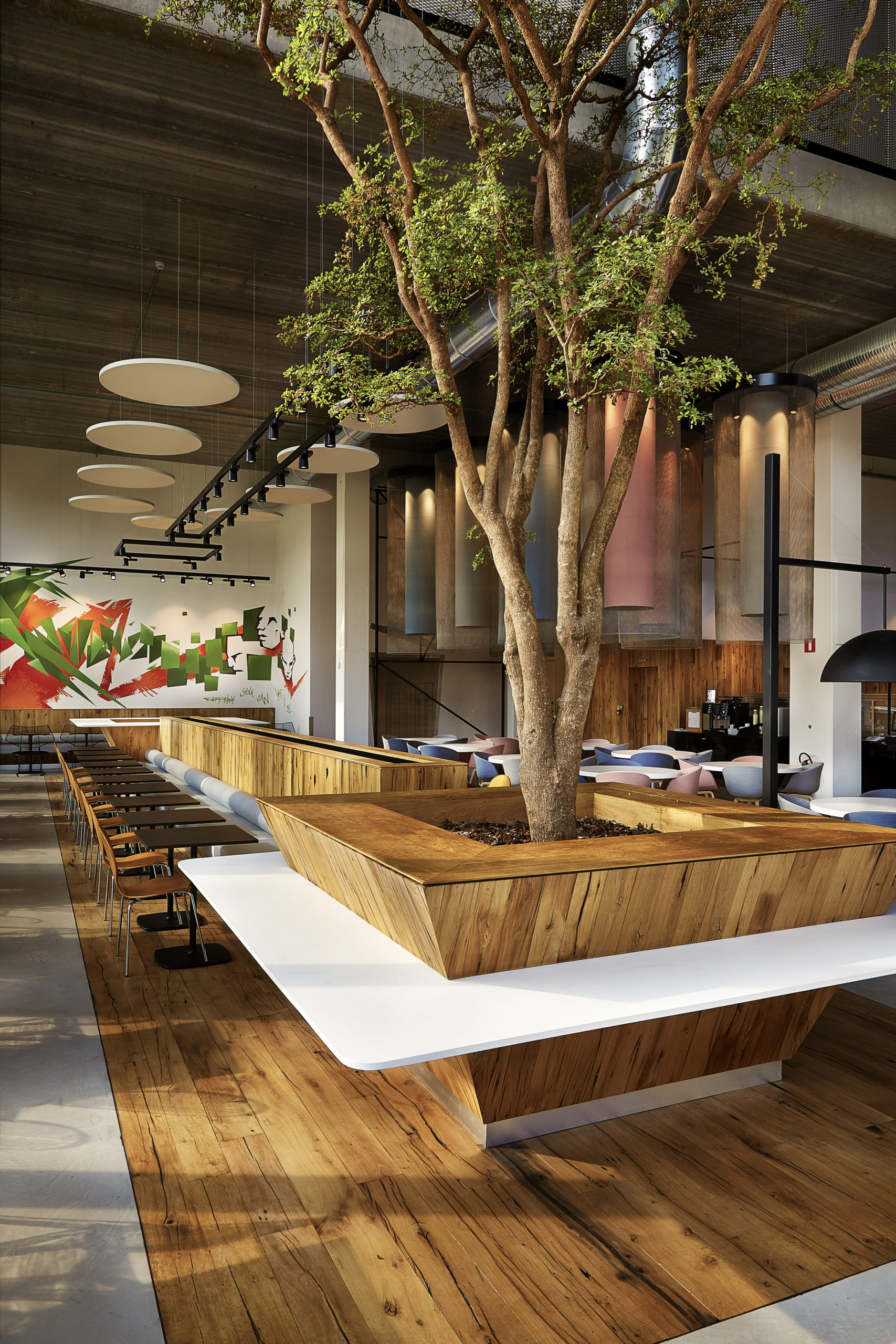 The Ezplanade restaurant designed by ncbham brings a new form of urban nature