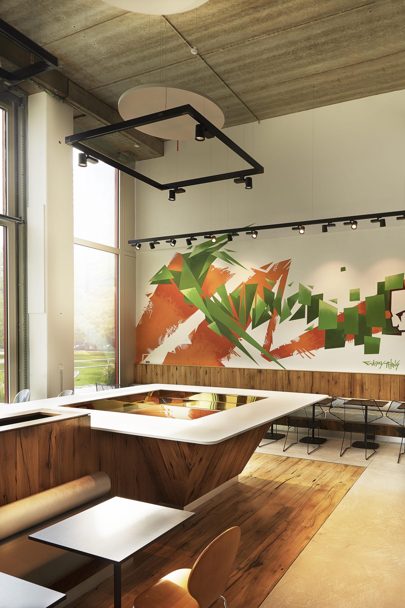 Restaurant inspired by graffitis