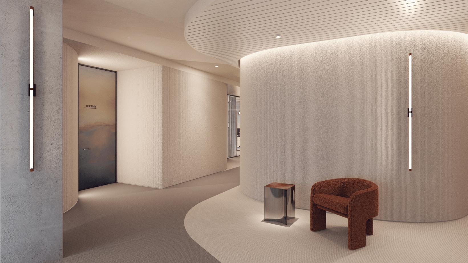 Minimal interiors in Ethias' Executive Management Offices